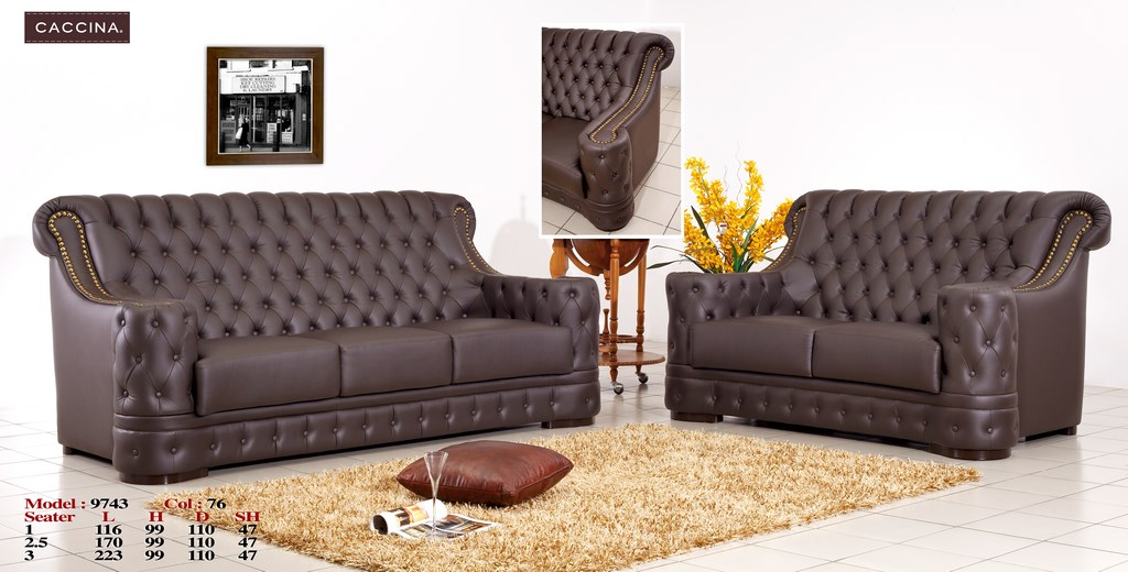 Leather Chesterfield Caccina Sofa Manufacturing